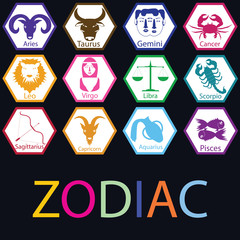 Colorful zodiac in the Polygon.