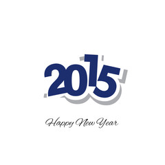 Happy New Year 2015 blue logo vector