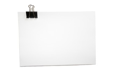 Papierstapel mit Papierklemme; Präsentation Unterlage, A4 quer