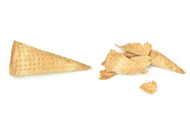 blank crispy ice cream cone