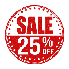 Sale 25% off stamp