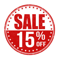 Sale 15% off stamp