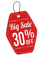 Big sale 30% off red leather label or price tag