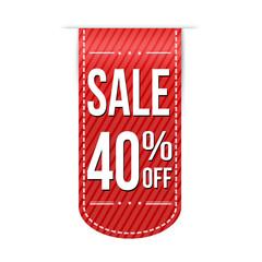 Sale 40% off banner design