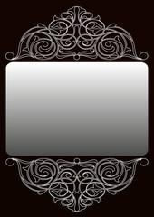 Gümüş işlemeli süs ( Dikey )