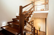 obraz - Wooden stairs at home