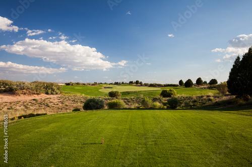 Leinwanddruck Bild Desert Golf Course