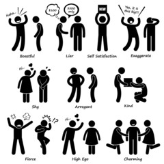 Human Man Character Behaviour Cliparts Icons