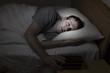 Leinwandbild Motiv Mature man cannot get to sleep
