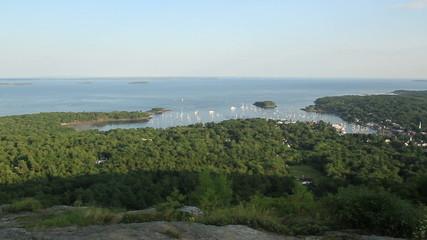 Maine USA Sail Boat Long Shot