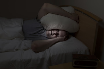 Mature man with sleeping problems