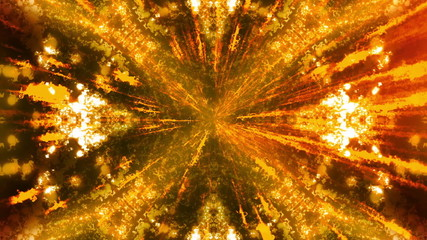 Orange Particle Electric Rays Looping Animated Background