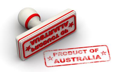 Продукт Австралии (product of Australia). Печать и оттиск