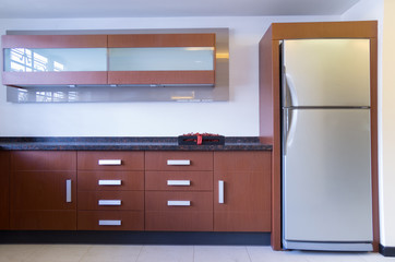 modern kitchen display