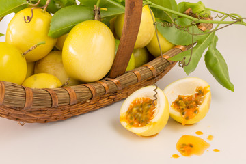 Basket with Passion fruit