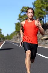 Running man sprinting