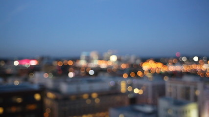 Out of Focus Bokeh of City of Portland in Oregon 1080p