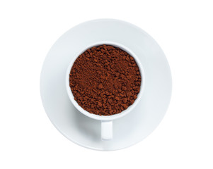 Instant coffee in cup