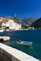 Magnificent city of Perast near the sea. Montenegro