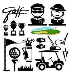 golf sport icons. vector