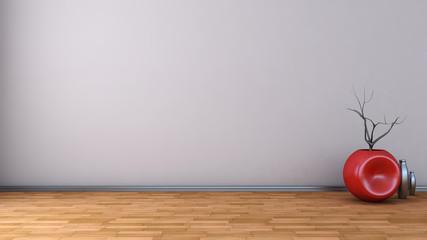 empty interior with vase