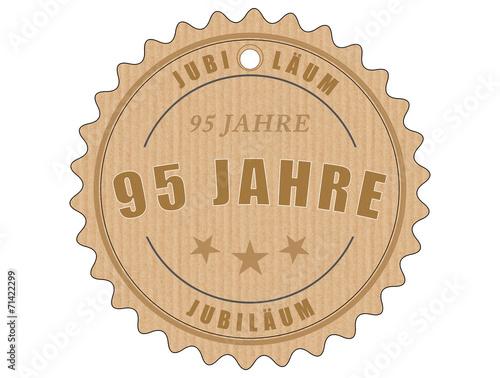 Staande foto Retro je95 JubiläumsEtikett 95 - vintagedesign - 95 Jahre - g1995