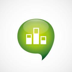 levels icon green think bubble symbol logo.