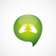 massage icon green think bubble symbol logo.