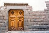 Inca Stonework and Wooden Door poster