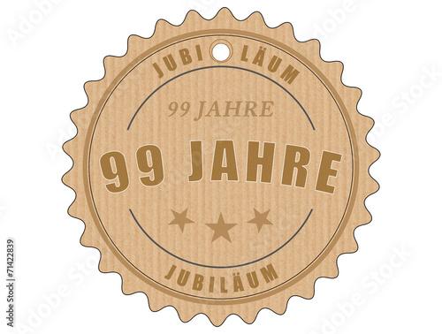 Fotobehang Retro je99 JubiläumsEtikett 99 - vintagedesign - 99 Jahre - g1999
