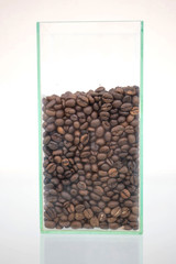 coffee beans in a bottle