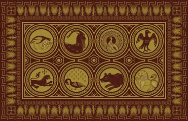 Ancient style carpet design