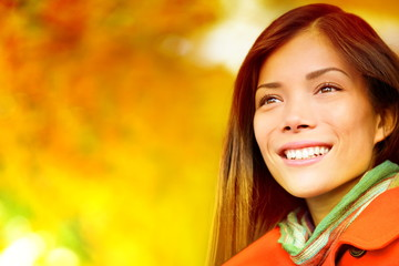 Autumn / Fall woman in colorful foliage