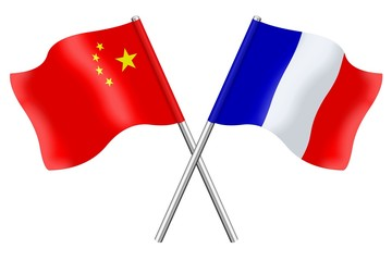 Flags: China and France