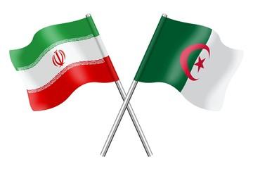 Flags: Iran and Algeria