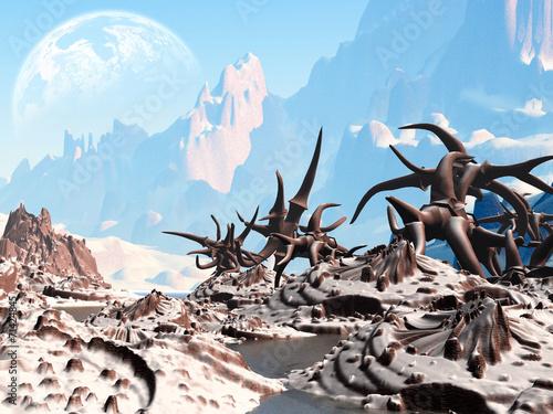 Leinwanddruck Bild Fantasy landscape