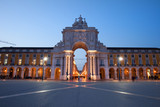 Rua Augusta Arch at Dusk in Lisbon