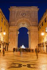 Rua Augusta Arch at Night in Lisbon
