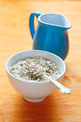 cereal and milk jug