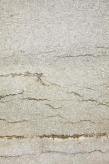 close up broken concreate road in sun light