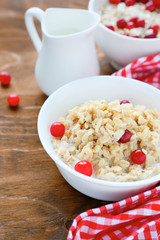 oatmeal in white bowl