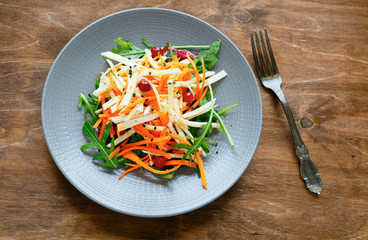 carrot - celery salad with cranberries