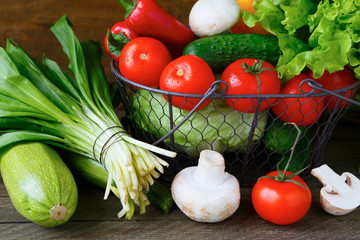 fresh vegetables in a basket
