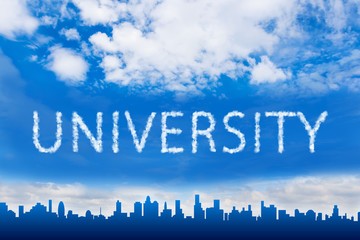 University text on cloud