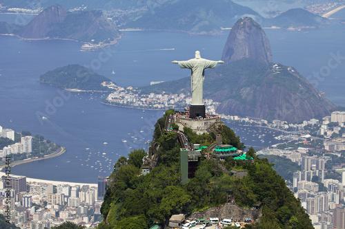Tuinposter Zuid-Amerika land Aerial view of Rio de Janeiro