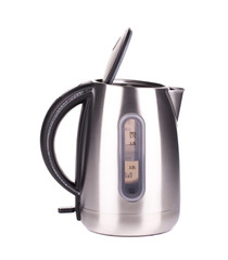 Metal modern kettle.