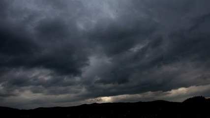Background of storm clouds before a thunder-storm in the