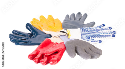 Various rubber worker gloves. - 71425668
