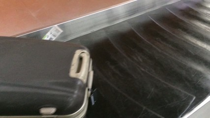 Unclaimed baggage in the airport