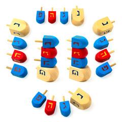 Hanukkah wooden dreidel